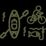 Embarcadères, vélo, pêche, ... dans le camping l'îlot du Chail